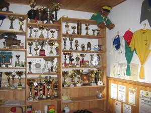 ściana z trofeami